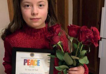 Aprilia från Junsele vann Lions Fredsaffischtävling