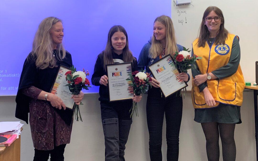 Fredsaffischtävling i Junsele skola